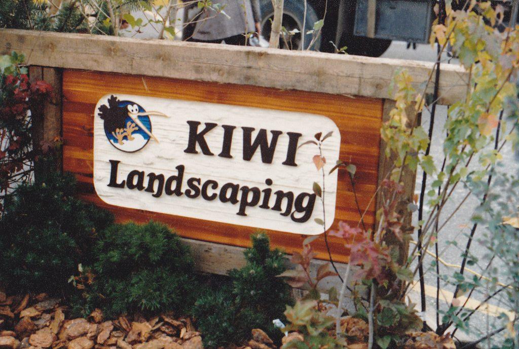Kiwi Landscaping Sign