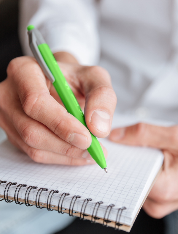 tips picture pen and notepad