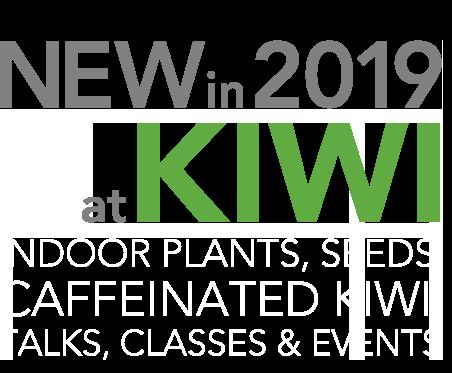 New in 2019 at kiwi