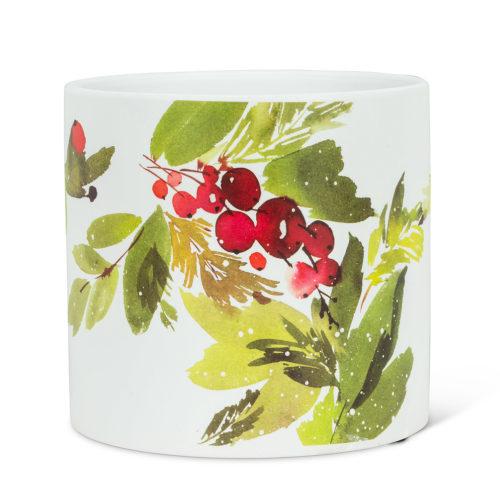 Abbott Large Cranberries & Greenery Pot
