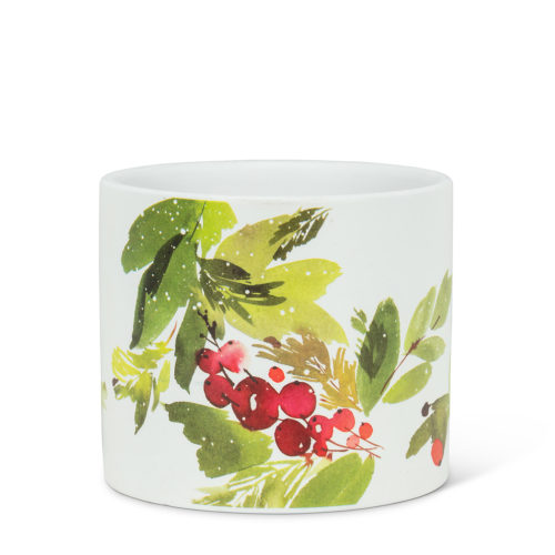 Abbott Small Cranberries & Greenery Planter