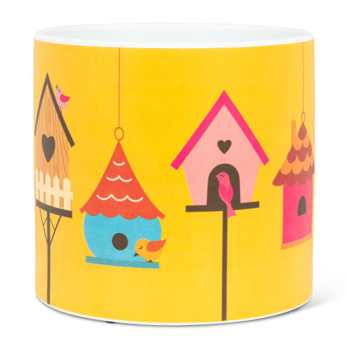 Abbott Large Birdhouse Row Pot