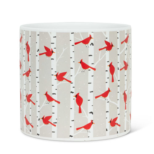 Abbott Large Cardinals & Birch Planter
