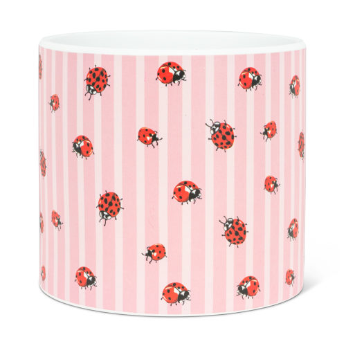 Abbott Decor Large Ladybug and Stripe Pot