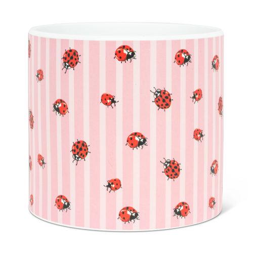 Abbott Decor Large Ladybug and Stripe Pot