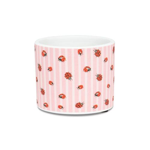 Abbott Decor Extra Small Ladybug & Stripe Pot