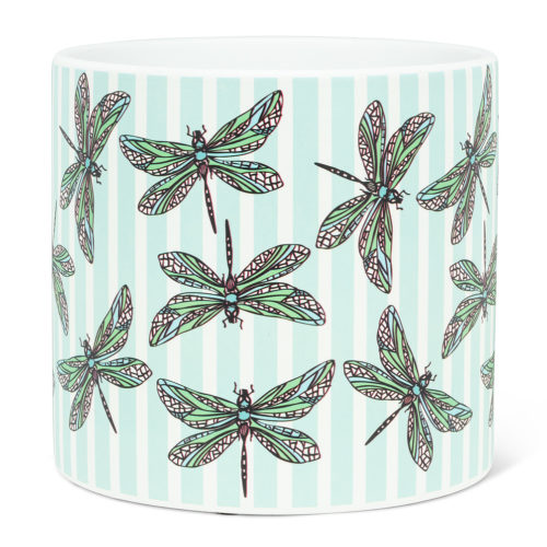 Abbott Decor Large Dragonfly and Stripe Pot