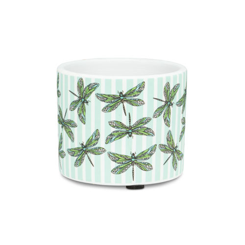 Abbott Decor Extra Small Dragonfly & Stripe Pot