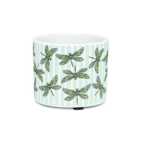 Abbott Decor Extra Small Dragonfly & Stripe Planter