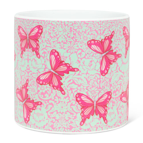 Abbott Decor Large Bold Butterflies Pot