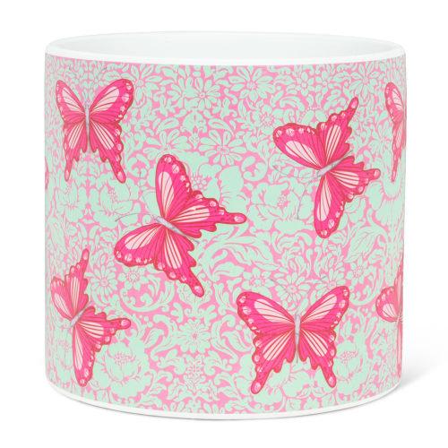 Abbott Decor Large Bold Butterflies Pot