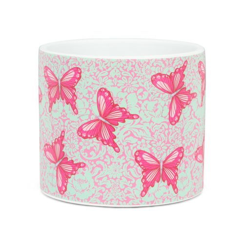 Abbott Decor Small Bold Butterflies Pot