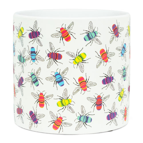 Abbott Decor Large Colourful Bees Pot