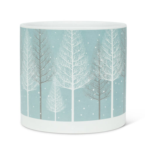 Abbott Decor Large Snowy Forest Planter