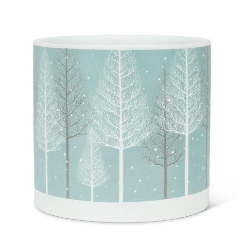 Abbott Decor Large Snowy Forest Planter