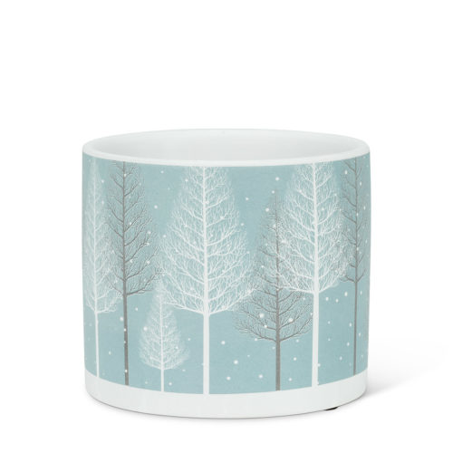 Abbott decor Small Snowy Forest Planter