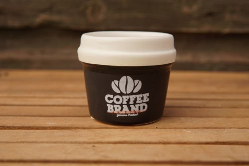 Black coffee brand planter
