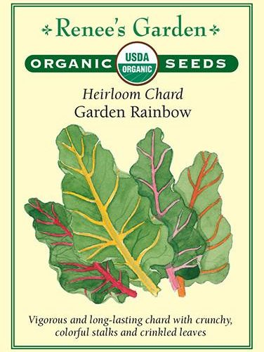 Heirloom Chard Garden Rainbow pack