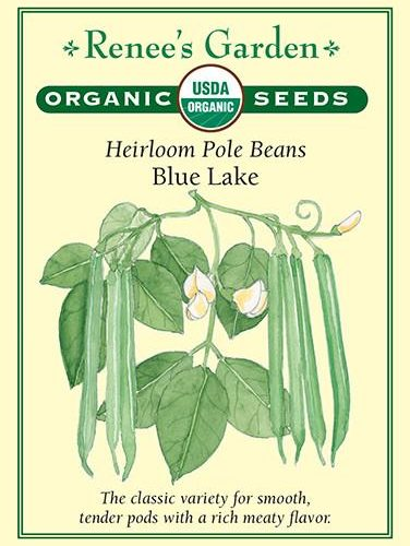 Heirloom Pole Beans Blue Lake pack