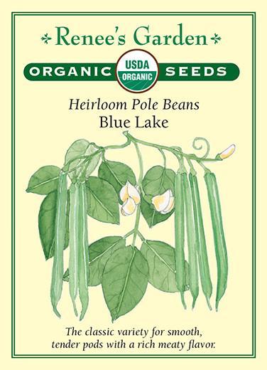Heirloom Pole Beans Blue Lake pack