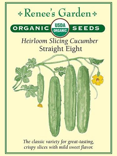 Heirloom Slicing Cucumbers Straight Eight pack