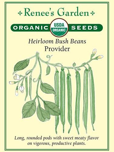 Heirloom Bush Beans Provider pack