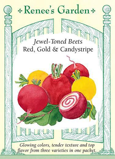 Jewel-Toned Beets Red, Gold, and Candystripe pack