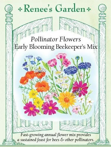Pollinator Flowers early blooming beekeeper's mix pack